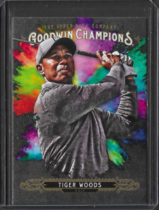2018 Upper Deck Goodwin Champions Tiger Woods Splash Color Insert PGA Golf Card