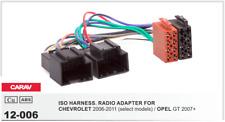 CARAV 12-006 Conector ISO OEM Radio Adaptador CHEVROLET 2006-2011 OPEL GT 2007+