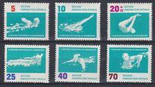 Allemagne RDA 1962 620-25 ** Natation Championnats Europe à Helsinki