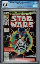 CGC 9.8 MARVEL MOVIE SHOWCASE FEATURING STAR WARS #1 COLLECTS ISSUES 1 & 2 1982
