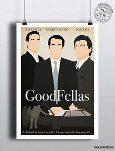 GOODFELLAS - Minimalist Movie Poster Minimal Print by Posteritty Pesci DeNiro