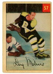1954-55 parkhurst #57 Doug Mohns ROOKIE CARD Boston Bruins