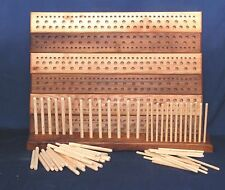 "500mm  Elm Peg loom, 3 gauge, 3 row,  a hand crafted ""Dales Looms"" production"