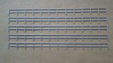 Lot 5 rambardes grises clôture 1/87  décor train diorama compatible Jouef Faller
