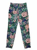 Zara Woman Floral Straight leg Pants Size XS