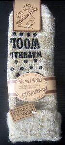 Damen ABS Thermo Wollsocken Umschlag Kuschelsocken extrem warm braun 35 bis 42