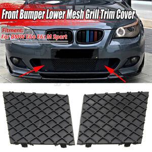 2Pcs Front Bumper Cover Lower Mesh Grill Trim Right Left Fit BMW E60 E61 M Sport