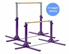 Gymnastic Bar Adjustable Kids Horizontal Training Gymnast Home Kip Solid Wood