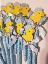 24 pcs Baby shower Duckling favor pens for boy