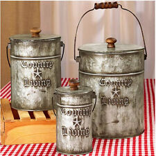 Country Decorations For Home Kitchen Decor Bathroom Laundry Room Canisters Style