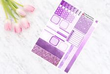Purple - Hobonichi Weeks - Weekly Planner Kit - Personal Planner Stickers