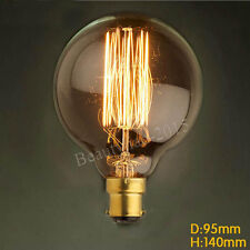 60w Vintage Filament Edison Bulb Dimmable B22 Bayonet Cap Globe Light Lamp G95