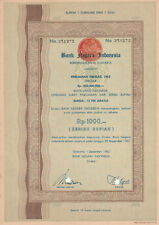Bankn Negara Indonesia Bond 1962 Jakarta Rp 1000 No. 251272