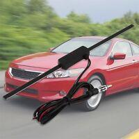 Black Universal Car Windshield Electronic AM-FM Radio Non-Directional Antenna #F