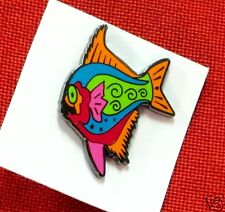 Scuba Pin hat Gift diving equipment snorkeling jacket Dp-41 crazy fish pin fun