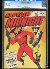 Captain Midnight #5  CGC  7.5  VF-  Universal CGC #0626120005