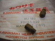NOS Kawasaki Main Jet 180A A7 A7SS A1SS F3 1971 F21M 85-00 KX60 92063-020 QTY 2