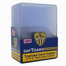 50 SAF-T-GARD 3x4 Extra Thick 138pt Top Loader NFL MLB NBA Card Holders #30435
