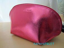 Clinique Metallic Pink Half Moon Shape Cosmetic Bag