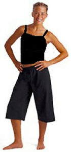 Motionwear 3123 Black Adult Large (12-14) Wide Strap Camisole Top