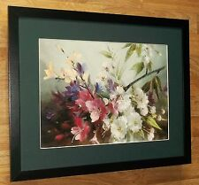 Vernon Ward - botanical poster, 20''x16'' frame, Flowering Cherry with Freesia