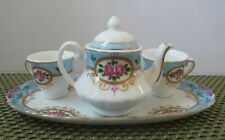 Vtg Dynasty Gallery Heirloom Collectibles 4 Piece Mini Tea Set
