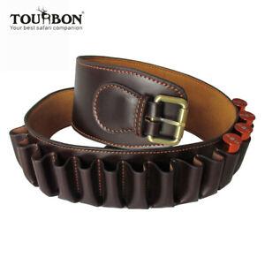 Tourbon 23 Rounds Leather Bandolier 12GA Shotgun Cartridge Belt -Special Offer