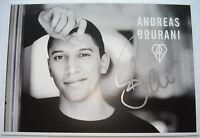Andreas Bourani  __   Autogramm  __  10 cm x 15 cm   __  Autogrammkarte HEY