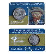 5 EURO Silber Niederlande Coincard Europamunt van Gogh 2003 - extrem selten !