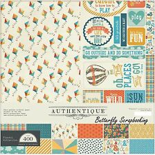 "AUTHENTIQUE Paper, 12 X 12 Collection Kit, ""Playful"" Collection, 12X12 Scrapbook"
