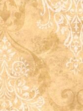 Large Cream Damask on Two Tone Gold Easy Walls Wallpaper PT71205