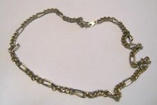 link design approx 44 cm long Pretty gold tone metal chain necklace great