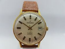 Vintage 1950's OVERSIZED 34.35 MM Swiss Made Excalibur Automatic With Box