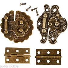 Mini Metal Door & Furniture Fittings Antique Hinges Clasps Crafts & Dolls House