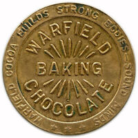Warfield Milk Chocolate Good Luck Health Wealth Happiness Chicago Illinois Token
