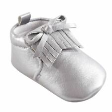 Hudson Baby Girl Moccasin Booties, Silver