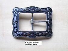 """Jeremiah Watt Stainless Steel 1"""" Center Bar Buckle 4 Belt, Bridle, Horse Tack +"""