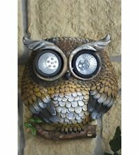 Solar Owl Security Light Great Wall Art Feature Extra Bright LED'S Free Delivery