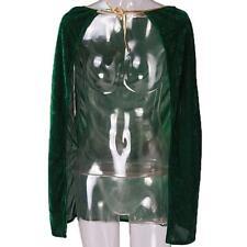 Kids Halloween Fancy Dresses Child Cloak Hooded Velvet Cape Medieval Costume Z