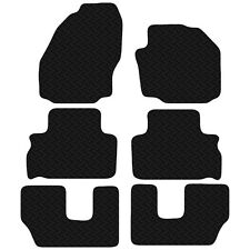 Ford Galaxy 7 Seater 2006 - 2014 Black Floor Rubber Tailored Car Mats 3mm 6pc