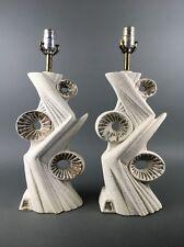 Vintage 1950's Mid Century Abstract Modern Lamp Pair Atomic Era