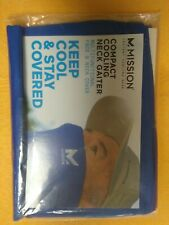 MISSION COMPACT COOLING Half Gaiter / Neck FACE MASK Blue NEW Multifunctional
