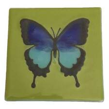 Butterfly Coasters - Recycled Glass - Handmade in Ecuador - Fair Trade