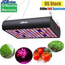 JCBritw 600W LED Grow Light Full Spectrum IR for Indoor Plants Hydroponic Lamp