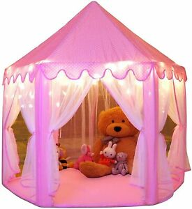 Princess Tent for Girls with LED Star Lights Indoor and Outdoor