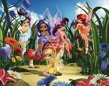 Fototapete Kinderzimmer Blumen Elfen Mädchen + Tapetenkleister Pilze Wand Blüten