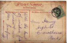 Genealogy Postcard - Harvey - High Street - Crowthorne - Berkshire - Ref 4029A