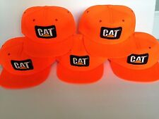 5 Caterpillar Hat Lot Foam Snapback Trucker Cap Orange Vintage Tonkin