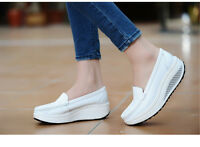 Womens Casual Shoes Loafer Shake Platform  Shoes Naved Slip on Nurse Shoes