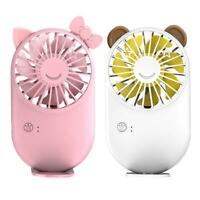 Cartoon Mini Portable Pocket Fan USB Charging Handheld/Desktop Small Fan